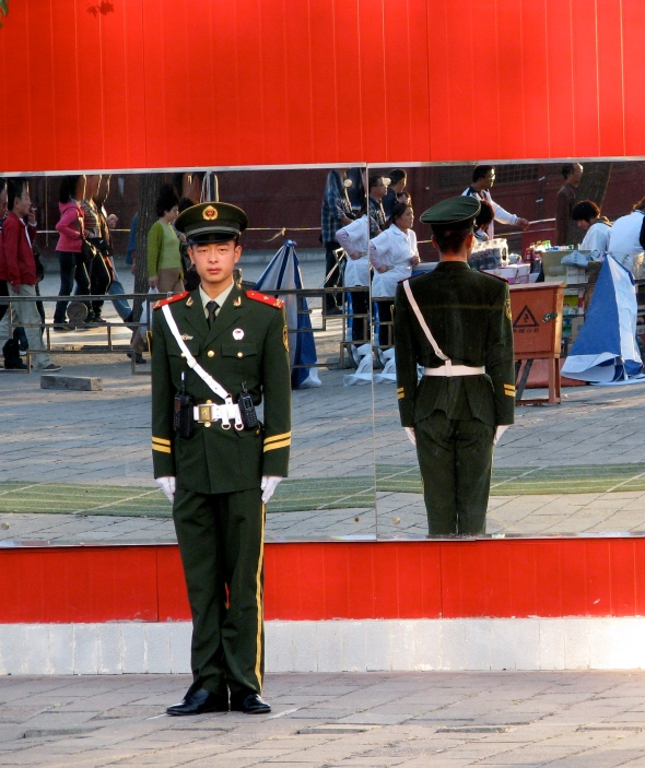 Young soldier in Beijing, China