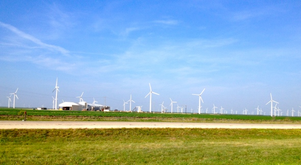 energy windmills at Sweetwater, Texas