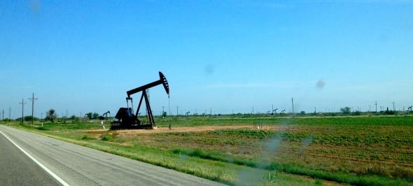 pump jack outside of Lubbock, Texas
