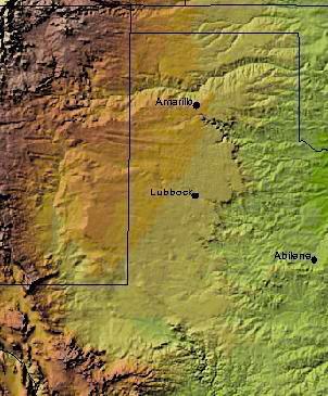 Llano Estacado Uplift Map