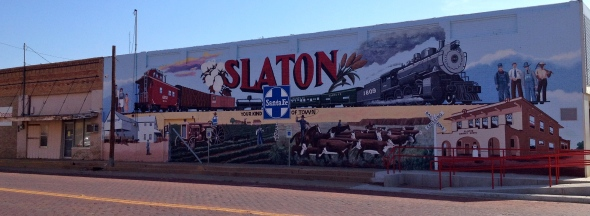 City mural for Slaton, Texas
