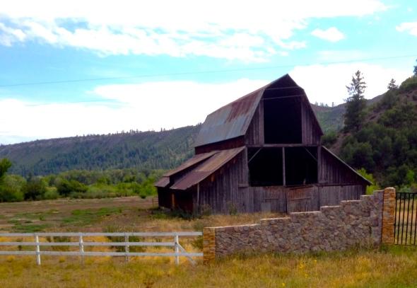 old steep roofed barn